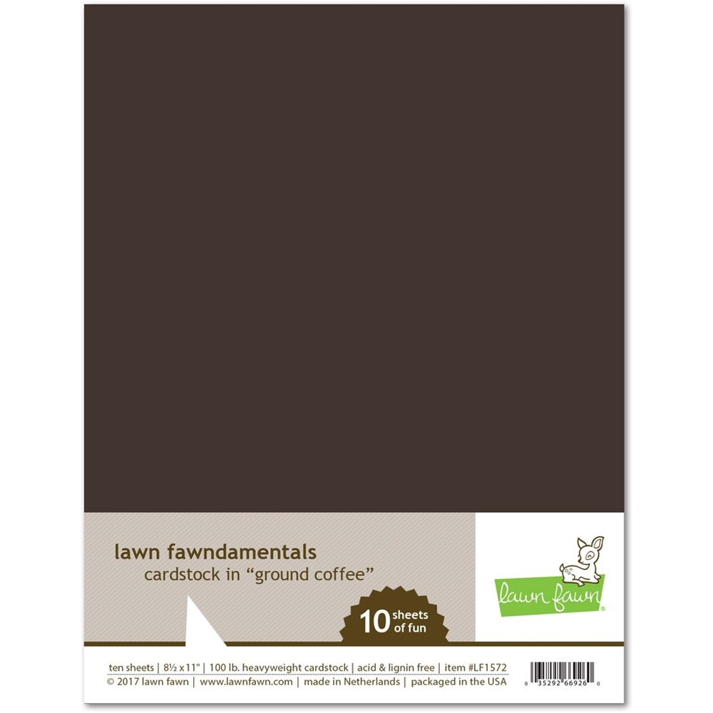 Lawn Fawn GROUND COFFEE Cardstock LF1572 zoom image