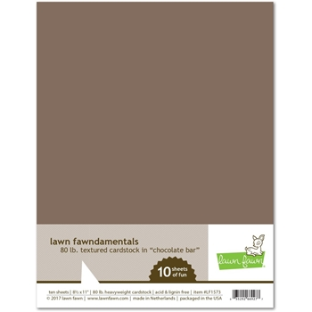 Lawn Fawn CHOCOLATE BAR Cardstock LF1573