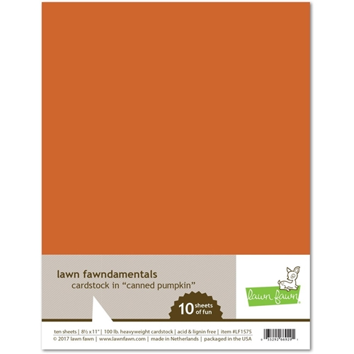 Lawn Fawn CANNED PUMPKIN Cardstock LF1575 Preview Image