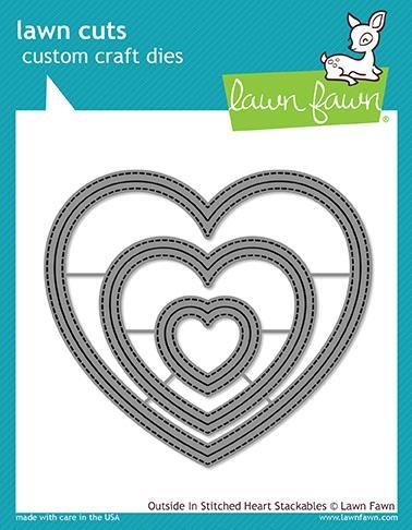 Lawn Fawn OUTSIDE IN STITCHED HEART STACKABLES Lawn Cuts LF1563 zoom image
