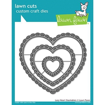 Lawn Fawn LACY HEART STACKABLES Lawn Cuts LF1562