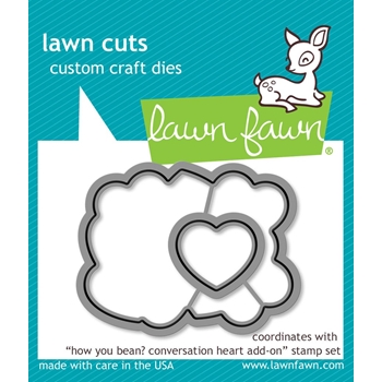 Lawn Fawn HOW YOU BEAN CONVERSATION HEART ADD-ON Lawn Cuts LF1554