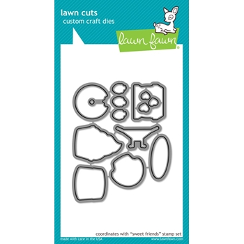 Lawn Fawn SWEET FRIENDS Lawn Cuts LF1552