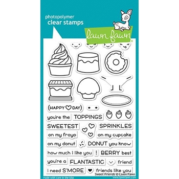 Lawn Fawn SWEET FRIENDS Clear Stamps LF1551