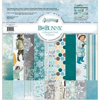 BoBunny 12 x 12 WINTER PLAYGROUND Collection Pack 7310012