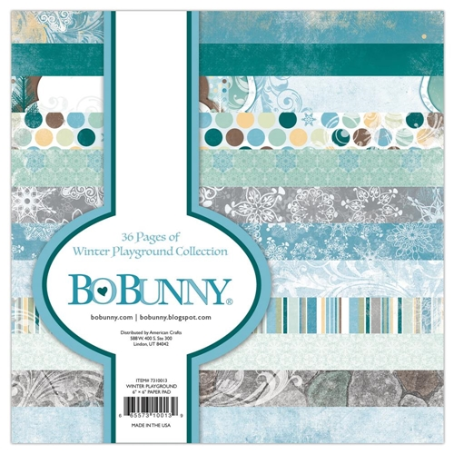 BoBunny 6 x 6 WINTER PLAYGROUND Paper Pad 7310013 Preview Image