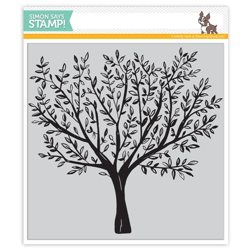 Simon Says Cling Rubber Stamp BRUSHED BRANCHES Background sss101792 Friends Preview Image
