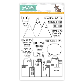 Simon Says Clear Stamps FROM THE ROOFTOPS  sss101800 Friends