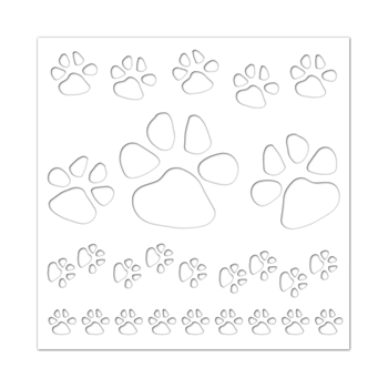 Simon Says Stencils PAWS BACKGROUND ssst121409 Friends