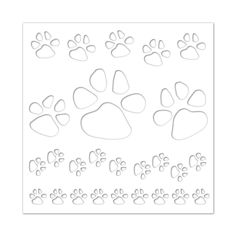 Simon Says Stencils PAWS BACKGROUND ssst121409 Friends zoom image