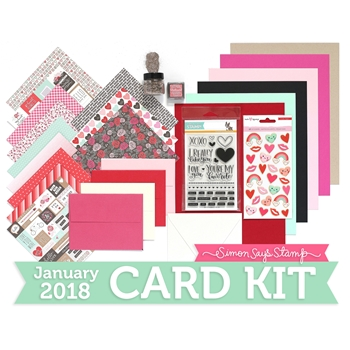 Simon Says Stamp Card Kit of The Month JANUARY 2018 FAVORITE PERSON ck0118