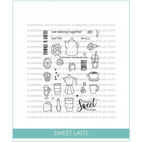 Studio Katia SWEET LATTE Clear Stamps stks036 Preview Image