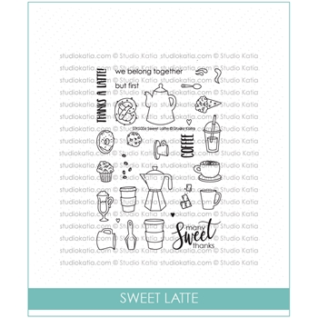 Studio Katia SWEET LATTE Clear Stamps stks036