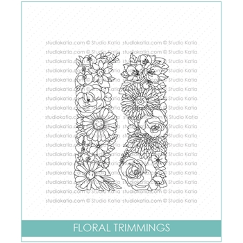 Studio Katia FLORAL TRIMMINGS Clear Stamps stks034