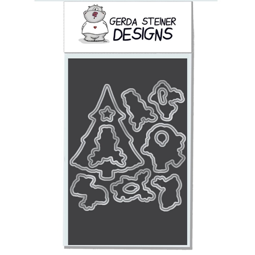 Gerda Steiner Designs REINDEER AND A TREE Die Set gsd618die Preview Image
