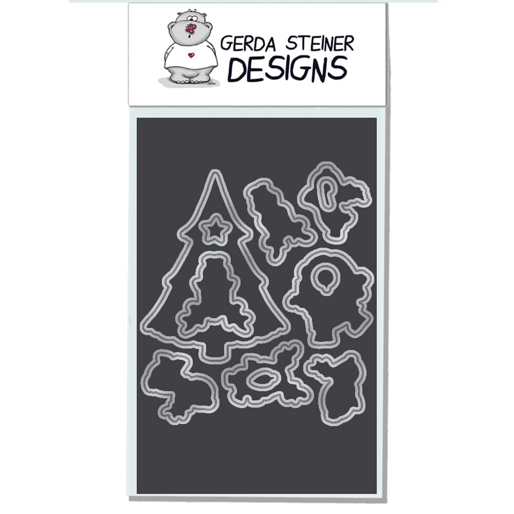 Gerda Steiner Designs REINDEER AND A TREE Die Set gsd618die zoom image