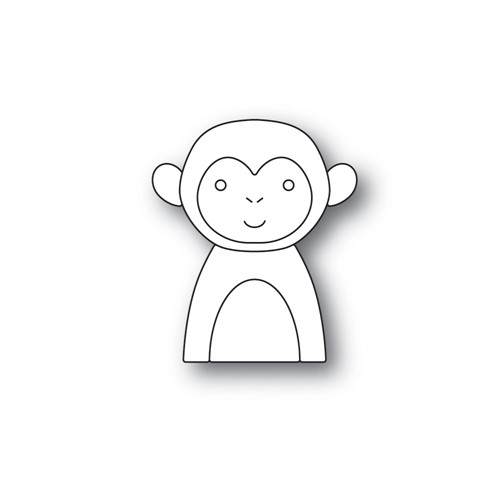 Simon Says Stamp PICTURE BOOK MONKEY Wafer Dies s525 Friends Preview Image