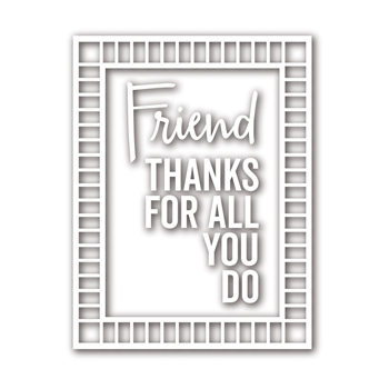 Simon Says Stamp GRID FRAME Wafer Dies sssd111772 Friends