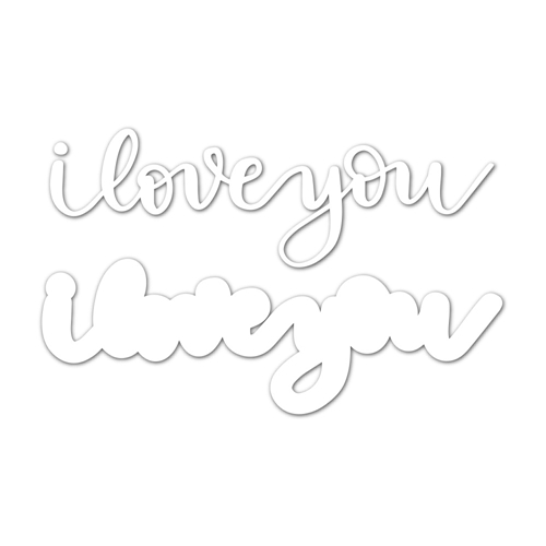 Simon Says Stamp I LOVE YOU Wafer Dies sssd111800 Friends Preview Image