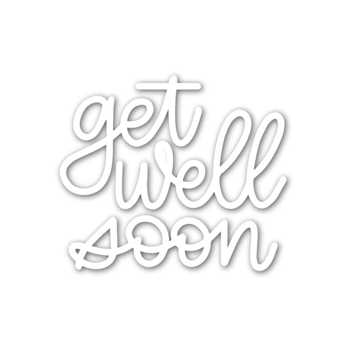 Simon Says Stamp GET WELL SOON Wafer Dies sssd111783 Friends Preview Image