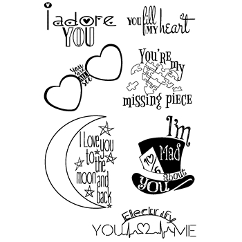 Joy Clair LOVE QUOTES Clear Stamp Set clr02029