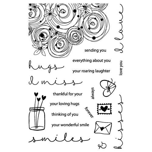 Joy Clair HUGS AND SMILES Clear Stamp Set clr01005 Preview Image