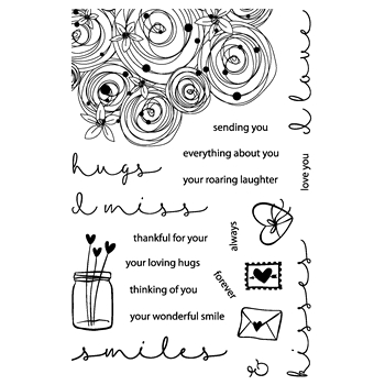 Joy Clair HUGS AND SMILES Clear Stamp Set clr01005