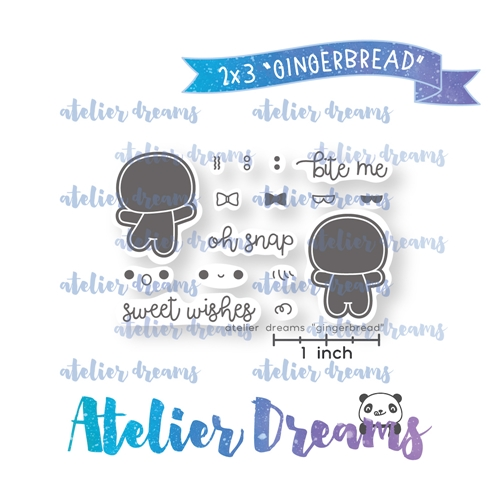 Atelier Dreams GINGERBREAD Clear Stamp Set adm-047 Preview Image