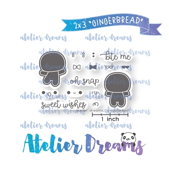Atelier Dreams GINGERBREAD Clear Stamp Set adm-047