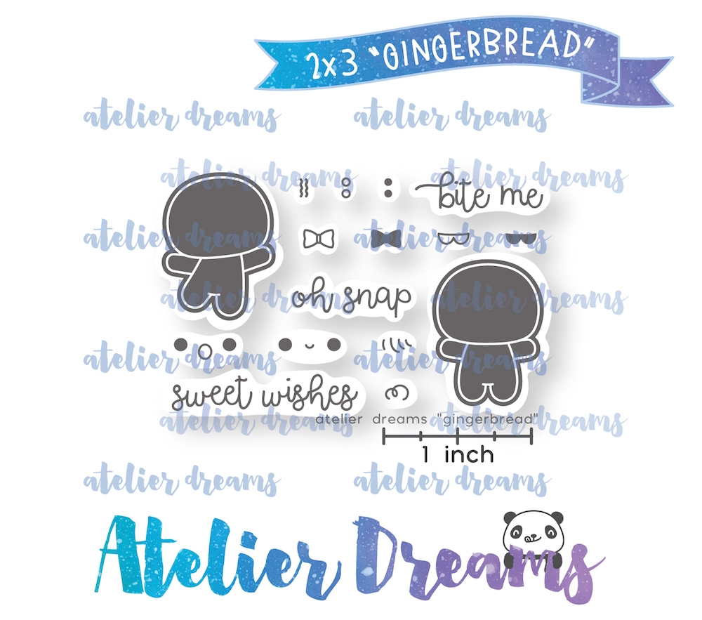 Atelier Dreams GINGERBREAD Clear Stamp Set adm-047 zoom image