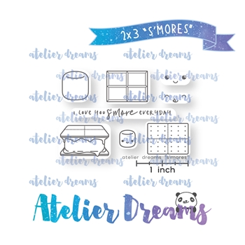 Atelier Dreams S'MORES Clear Stamp Set adm-048