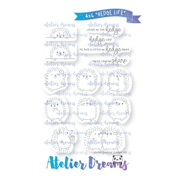 Atelier Dreams HEDGE LIFE Clear Stamp Set ad-071