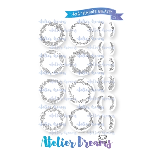 Atelier Dreams PLANNER WREATH Clear Stamp Set ad-068 Preview Image