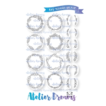 Atelier Dreams PLANNER WREATH Clear Stamp Set ad-068