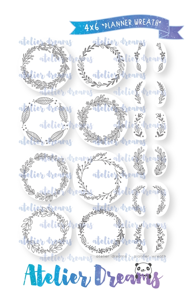 Atelier Dreams PLANNER WREATH Clear Stamp Set ad-068 zoom image