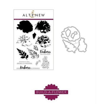 Altenew BUILD A FLOWER CARNATION Clear Stamp and Die Set ALT2041