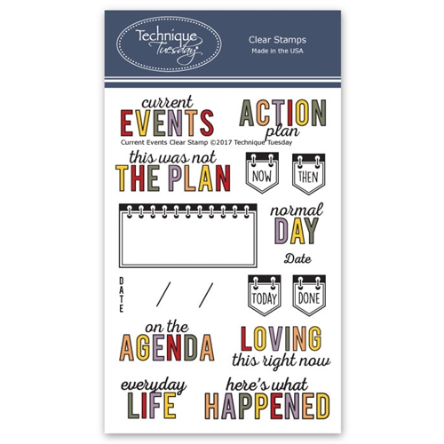 Technique Tuesday CURRENT EVENTS Clear Stamps 2612 Preview Image