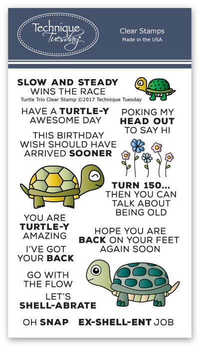 Technique Tuesday TURTLE TRIO Clear Stamps 2600 zoom image