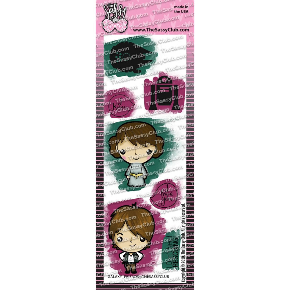 The Sassy Club GALAXY FRIENDS Clear Stamps tscl114 zoom image