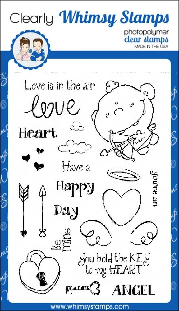 Whimsy Stamps CUTE CUPID Clear Stamps cwsd255* zoom image