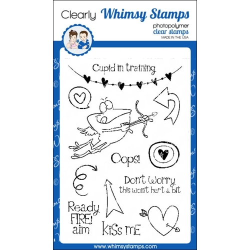 Whimsy Stamps CUPID IN TRAINING Clear Stamps cwsd256* Preview Image
