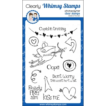 Whimsy Stamps CUPID IN TRAINING Clear Stamps cwsd256*