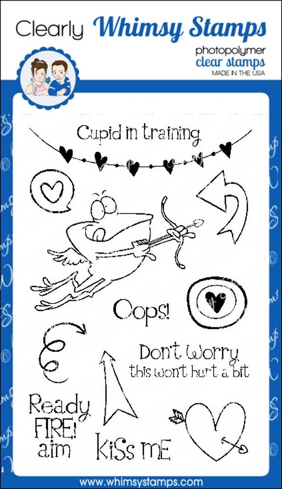 Whimsy Stamps CUPID IN TRAINING Clear Stamps cwsd256* zoom image