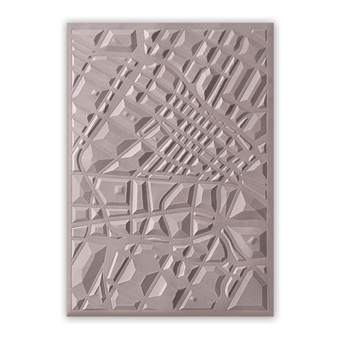 Sizzix Textured Impressions MAP 3D Embossing Folder 662456 Preview Image