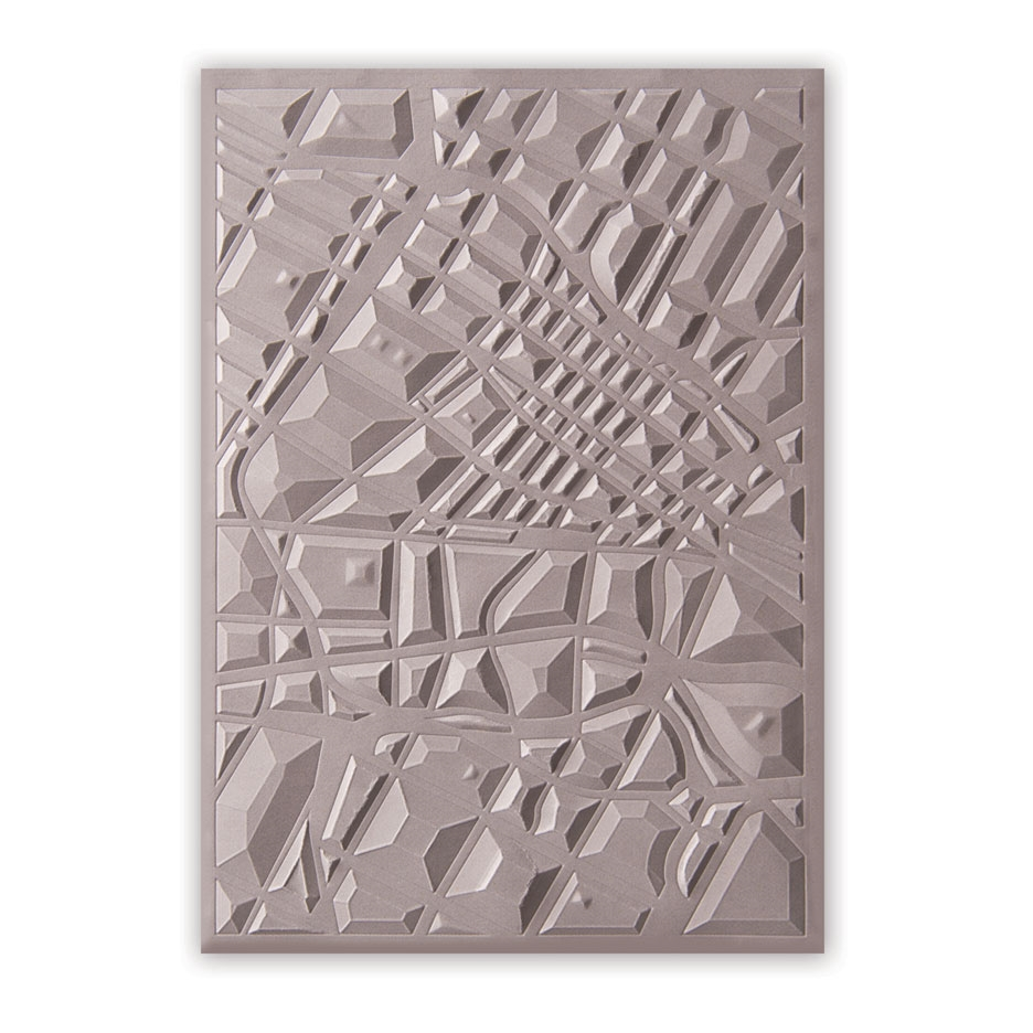 Sizzix Textured Impressions MAP 3D Embossing Folder 662456 zoom image