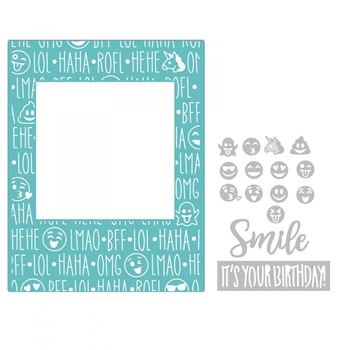 Sizzix BIRTHDAY SMILES Impresslits Cut and Emboss Folder 662457