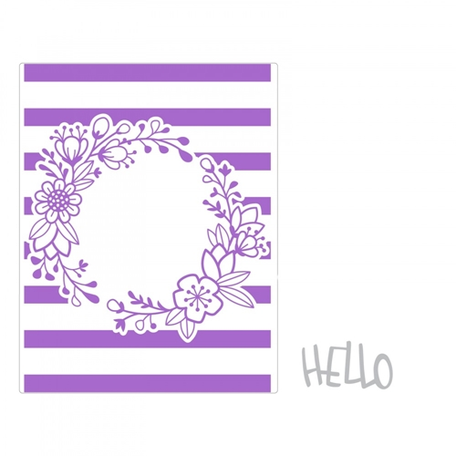 Sizzix WILDFLOWER FRAME Impresslits Cut and Emboss Folder 662458 Preview Image