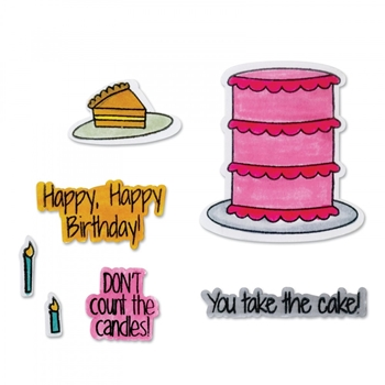 Sizzix Framelits TAKE THE CAKE Combo Die and Stamp Set 662479*