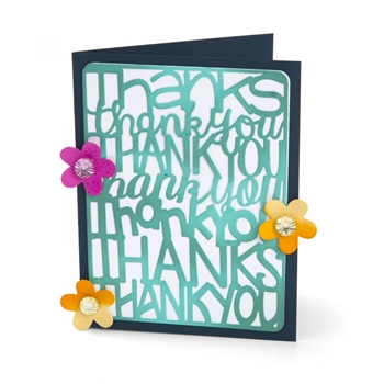Sizzix THANK YOU Thinlits Die Set 662254