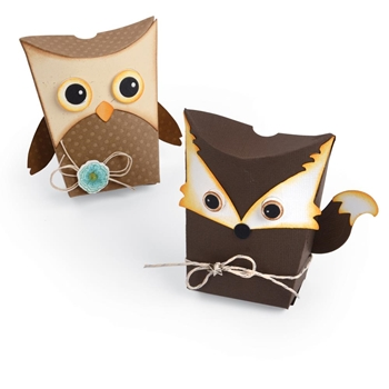 Sizzix OWL AND FOX BOX Thinlits Die Set 661133